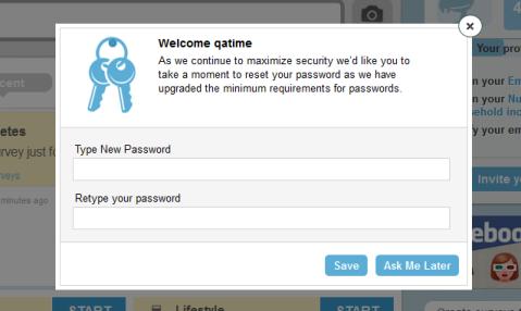 password update