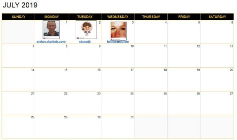 calendar 0307